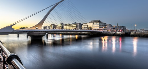Samuel Beckett bridge at sunset in Dublin, Ireland. Photo by Giuseppe Milo (http://www.flickr.com/photos/giuseppemilo).
